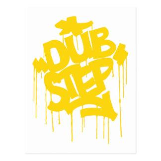 Dubstep FatCap Citrus Gold Postcard