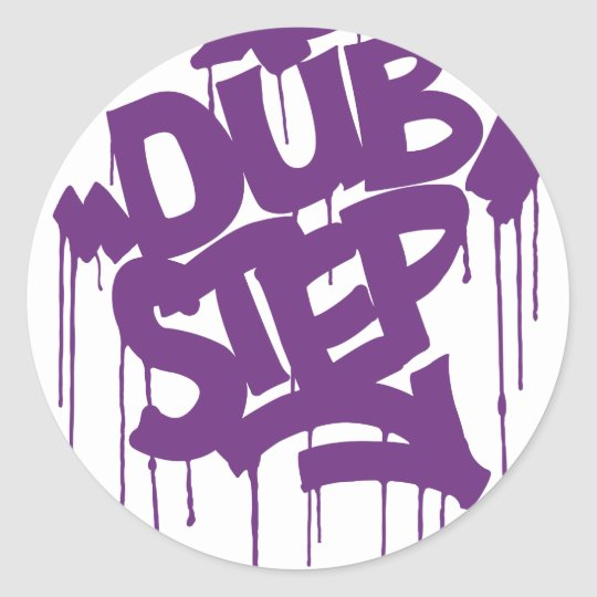 Dubstep FatCap Kush Purple Classic Round Sticker