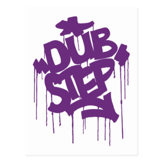 Dubstep FatCap Kush Purple Postcard