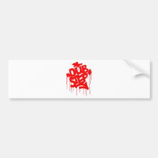 Dubstep FatCap Red Bumper Sticker
