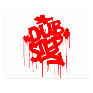 Dubstep FatCap Red Postcard