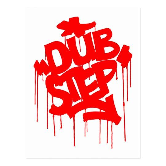 Dubstep FatCap Red Postcard