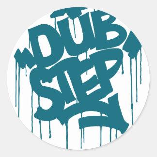 Dubstep FatCap Reef Blue Classic Round Sticker