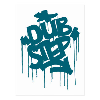 Dubstep FatCap Reef Blue Postcard