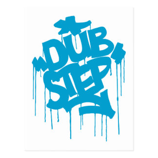 Dubstep FatCap Sky Blue Postcard