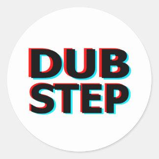 Dubstep Filthy dub step bass techno wobble Classic Round Sticker
