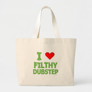 Dubstep Filthy dub step bass techno wobble Large Tote Bag