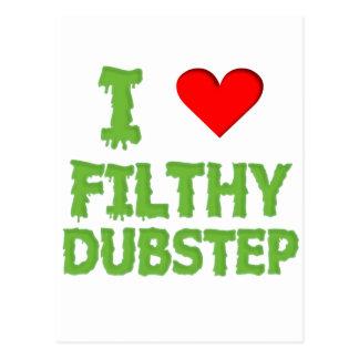 Dubstep Filthy dub step bass techno wobble Postcard