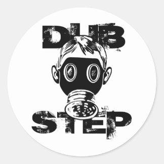 Dubstep Gas Mask Classic Round Sticker