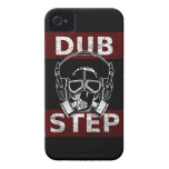 Dubstep gas mask & headphones iPhone 4 Case-Mate case