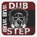 Dubstep gas mask & headphones CUSTOMIZABLE Square Sticker