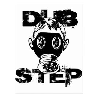 Dubstep Gas Mask Postcard