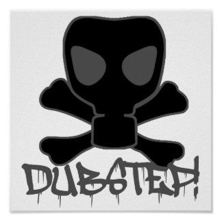 Dubstep Gas Mask Skull Poster