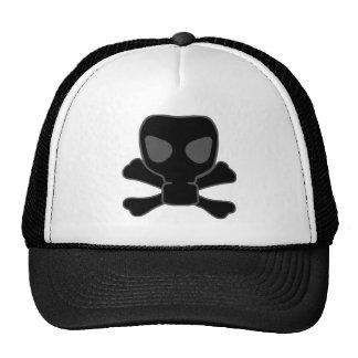 Dubstep Gas Mask Skull with Crossbones Trucker Hat