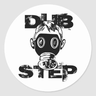 Dubstep Gas Mask Round Stickers