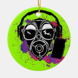 Dubstep Gasmask Christmas Ornaments