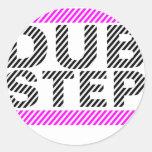 Dubstep Girls Pink Round Sticker