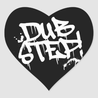Dubstep Graffiti Style Heart Sticker