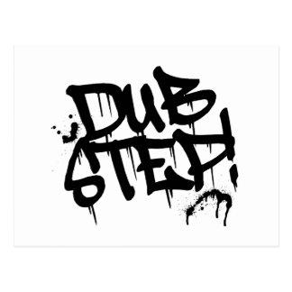 Dubstep Graffiti Style Postcard