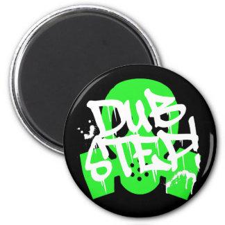 Dubstep Green Gasmask 2 Inch Round Magnet