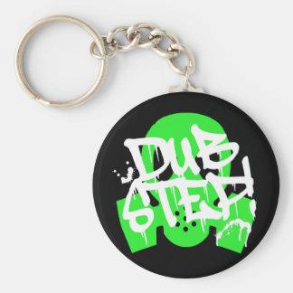 Dubstep Green Gasmask Key Chain