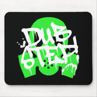 Dubstep Green Gasmask Mouse Pad
