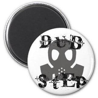 Dubstep Grey Gas Mask 2 Inch Round Magnet
