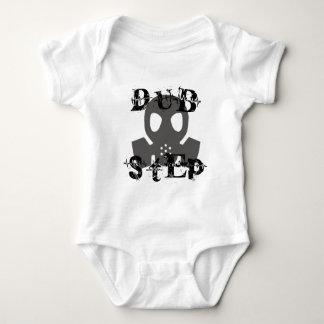 Dubstep Grey Gas Mask Baby Bodysuit