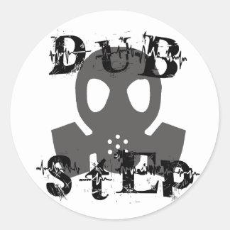 Dubstep Grey Gas Mask Classic Round Sticker
