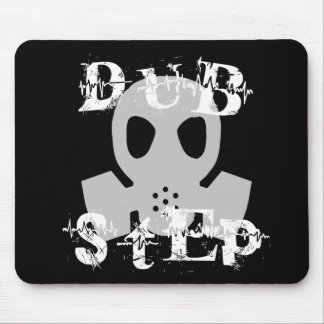 Dubstep Grey Gas Mask Mouse Pad