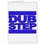 DUBSTEP Logo blue Cards