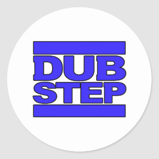 Dubstep logo craft supplies zazzle dubstep logo blue classic round sticker thecheapjerseys Choice Image