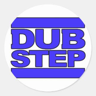 DUBSTEP Logo blue Classic Round Sticker