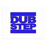 DUBSTEP Logo blue Postcard