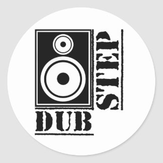 Dubstep Loudspeaker B Classic Round Sticker