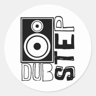 Dubstep Loudspeaker C Classic Round Sticker