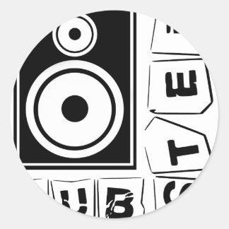 Dubstep Loudspeaker Classic Round Sticker