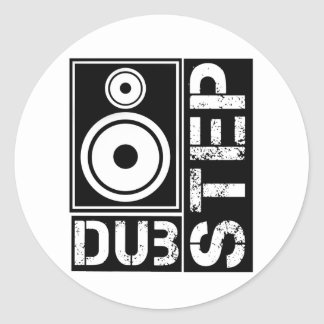 Dubstep Loudspeaker D Classic Round Sticker