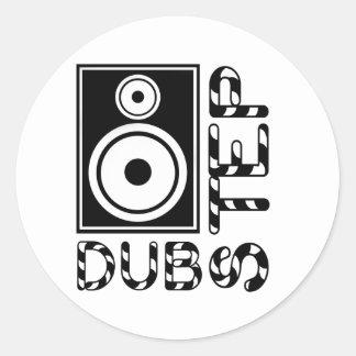 Dubstep Loudspeaker E Classic Round Sticker