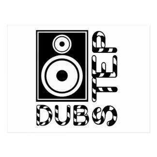 Dubstep Loudspeaker E Post Card