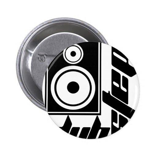 Dubstep Loudspeaker F Pinback Button