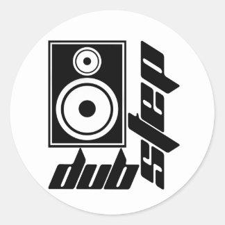Dubstep Loudspeaker F Classic Round Sticker