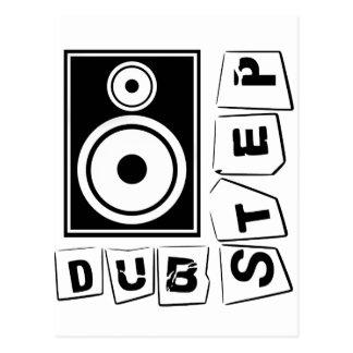 Dubstep Loudspeaker Postcard