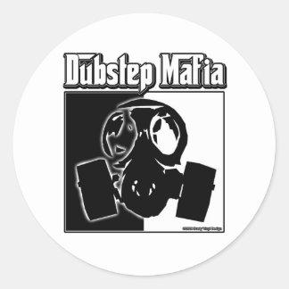 DUBSTEP Mafia Dub Step music Dubstep clothing gear Classic Round Sticker