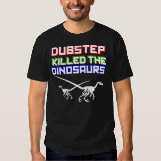 Dubstep mató a los dinosaurios 2 (invertidos) remeras