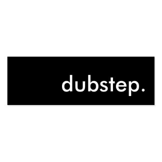 dubstep. mini business card