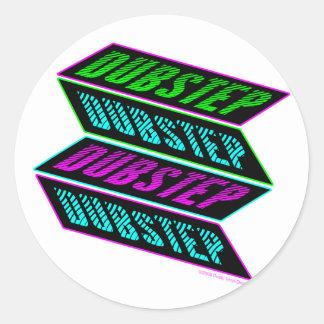 DUBSTEP Neon Classic Round Sticker