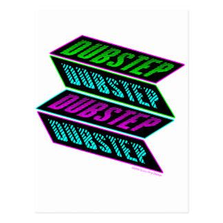 DUBSTEP Neon Postcard
