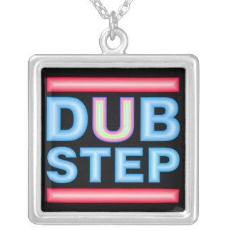 DUBSTEP Neon Silver Plated Necklace