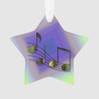 Dubstep Notes Acrylic Ornament